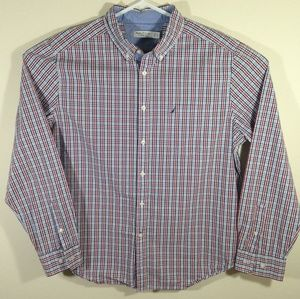 Nautica Mens Long Sleeve Classic Fit Plaid Shirt